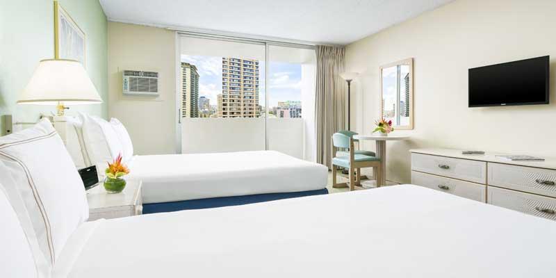 더블 침대 2개 객실